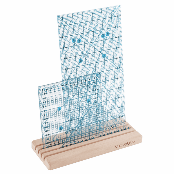 Milward Ruler/Template Rack: Small - 4 Slots: Beech Wood