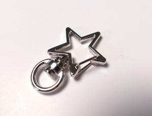Star Small Charm Trigger Swirl Hook Clasp in Silver