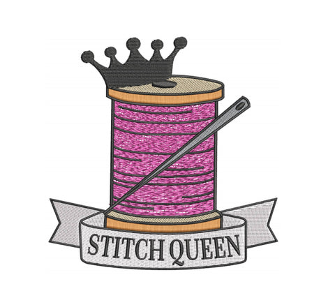 Stitch Queen 7x5 Embroidery Design (124.7mm by 122.7mm)
