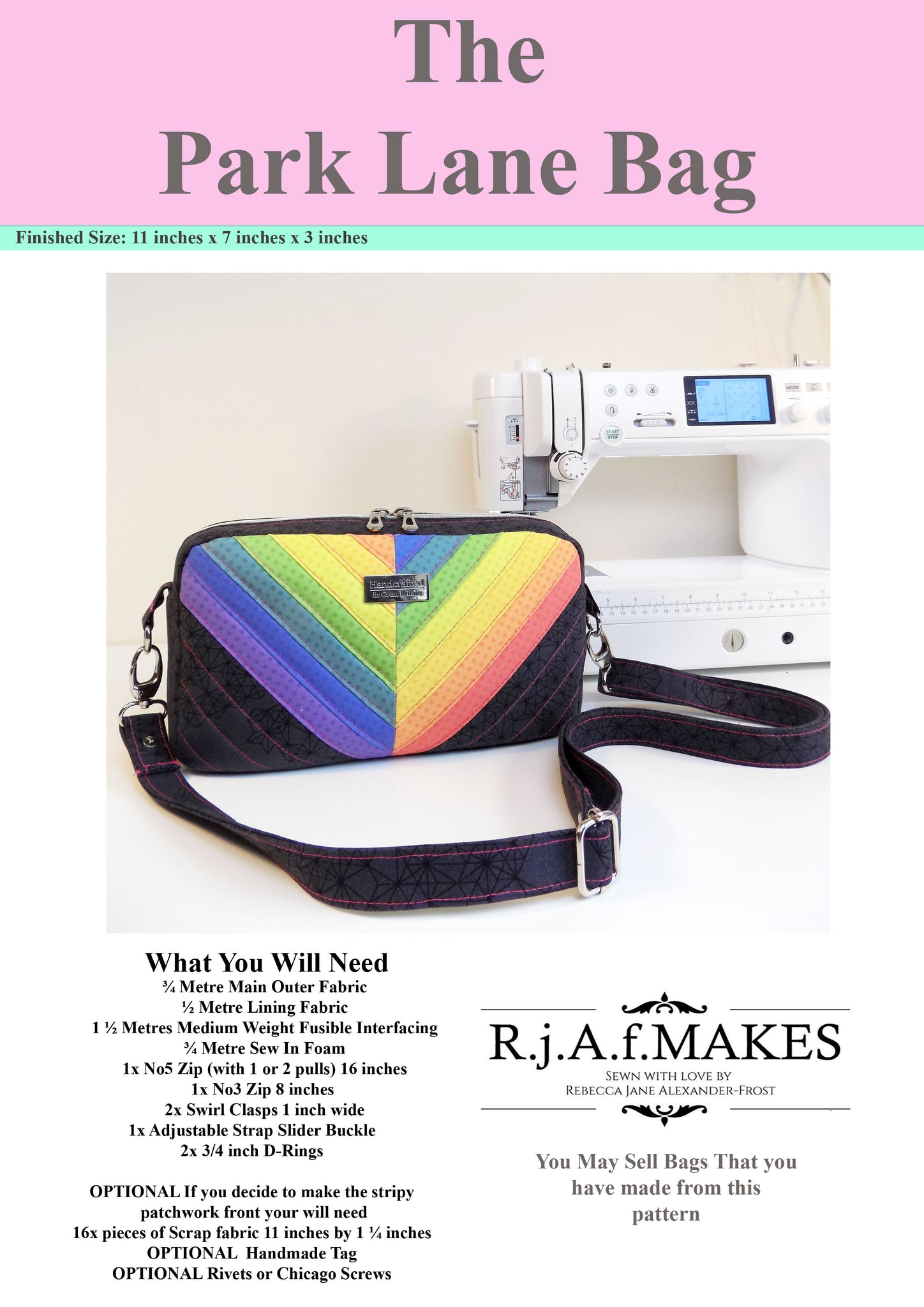 "PAPER Version ""The Park Lane Bag"" Sewing Pattern"