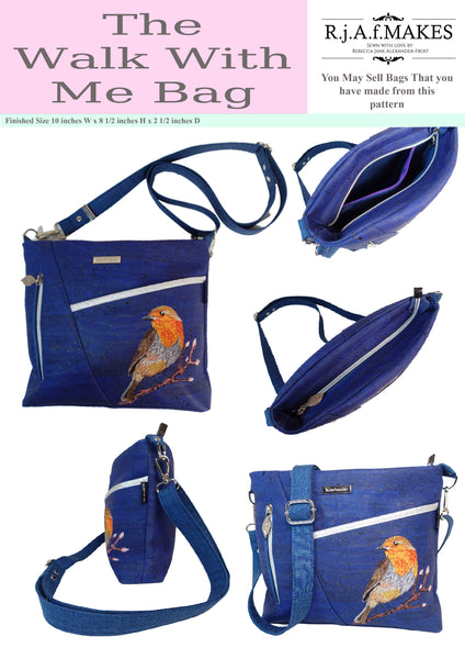 "DIGITAL DOWNLOAD ""The Walk With Me Bag"" Sewing Pattern"