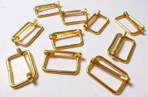 Value Pack 1 Inch Thin Adjustable Sliders Gold Finish Set of 5