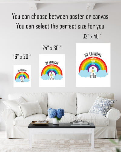 My Grandkids Add Color to My Life - Customizable Wall Decor Art - Print, Poster & Canvas Sizes - Perfect Mother's day gift for grandmothers
