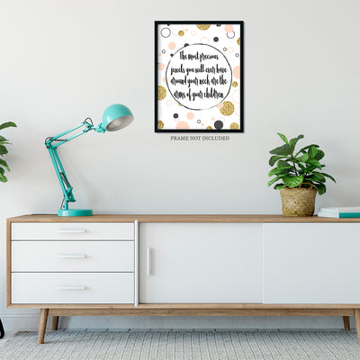 Precious Jewels Quote Wall Art Decor Print - 11x14 unframed print for mothers