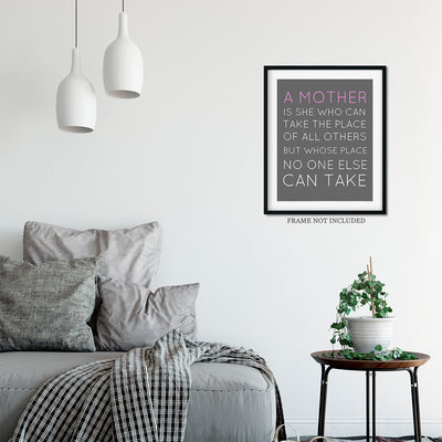 A Mother is Irreplaceable Quote Wall Art Decor Print - 11x14 unframed print for mothers