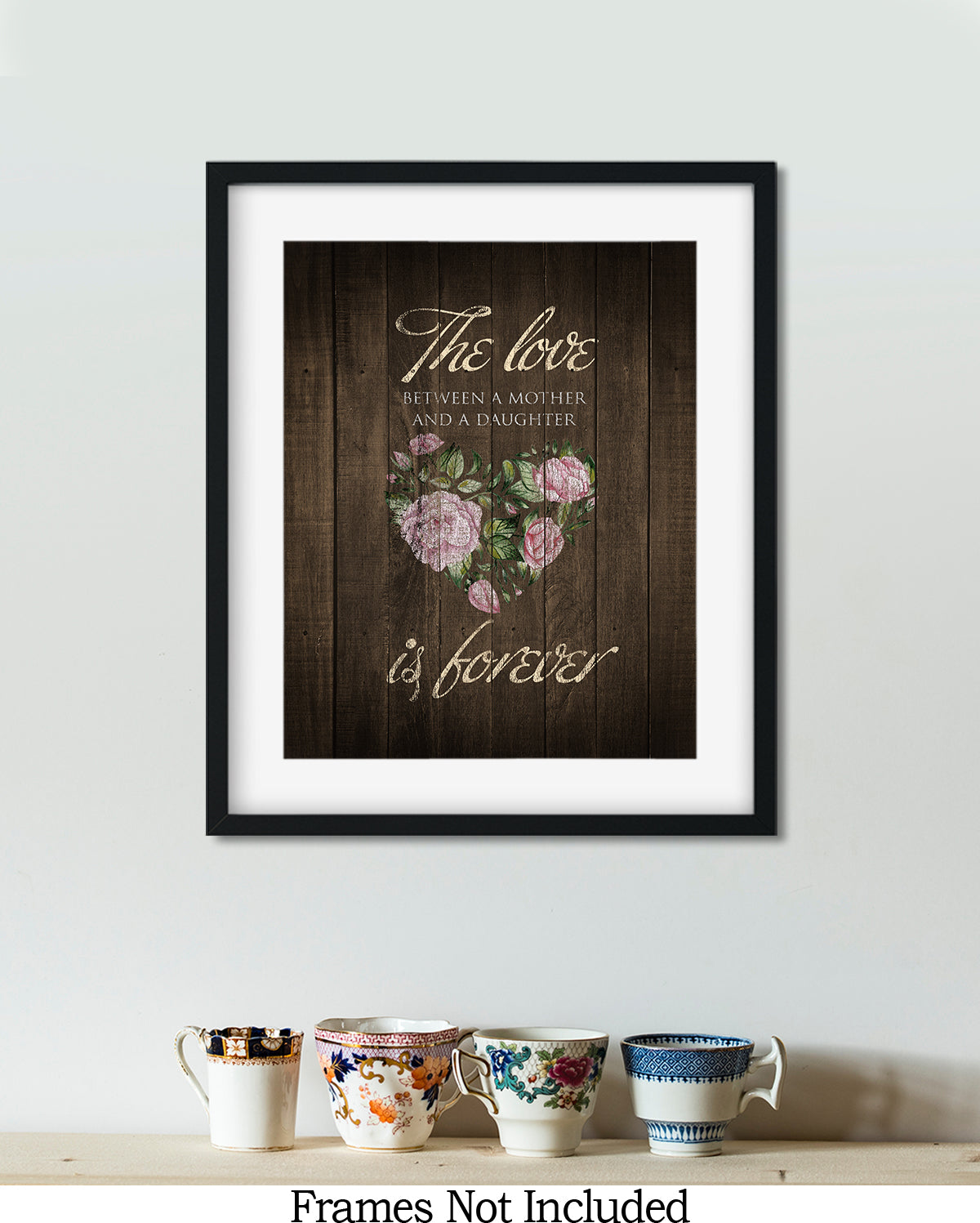 You Are The Sweetest Mom Around - Wall Decor Art Print with Teal background - 8x10 unframed print for mothers