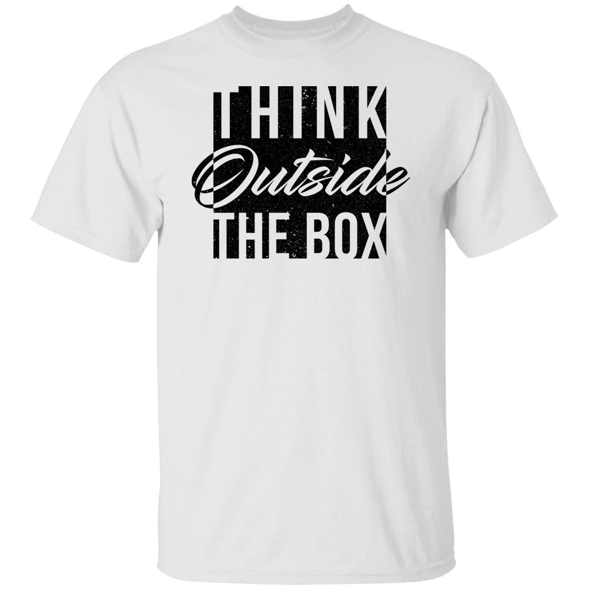 Think Outside The Box Shirt, Motivational T-Shirt, Minimalist, Gift for Women, TShirt for Women, Women's Tee, Cute Tee, Inspirational Tee