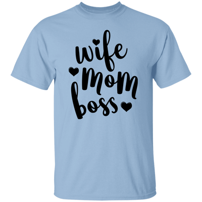 Wife Mom Boss Shirt, Motherhood Shirt, Wife Shirt, Mama Tees, Mothers Day Gift, Women's Tee, Mom Gift, Gift for Her, Mom Shirt