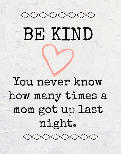 Be Kind Mother Quote Wall Art Decor Print - 11x14 unframed print for mothers