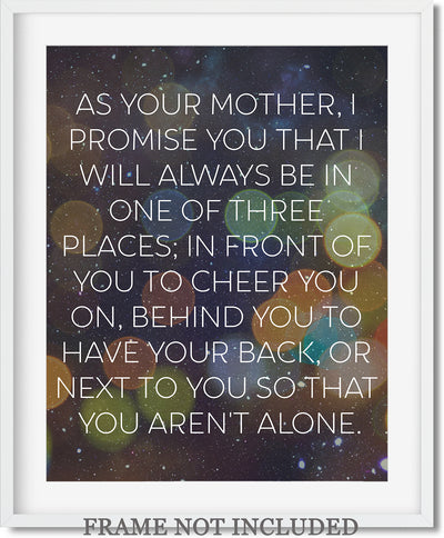 Motherhood Quote Wall Art Decor Print - 11x14 unframed print for mothers