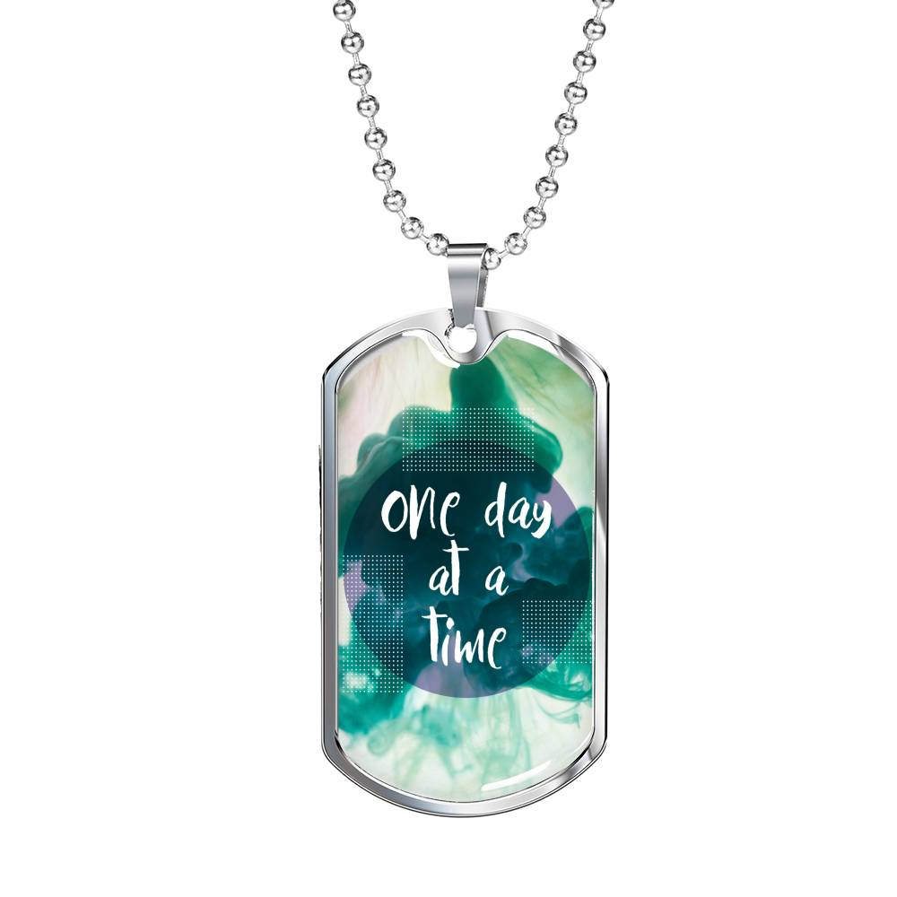 One day at a time luxury military necklace
