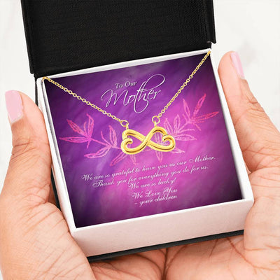 Children to Mother Infinity heart necklace