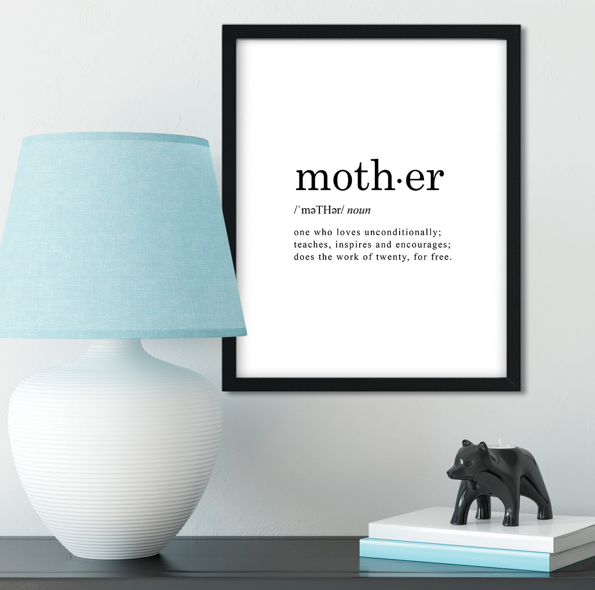 Mother Word Definition Wall Decor Art - 8x10 unframed print - dictionary meaning print makes a great gift