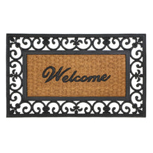 Load image into Gallery viewer, Fleur-De-Lis Framed Entry Mat