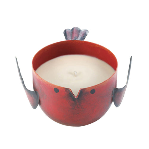 Red Apple Birdie Candle