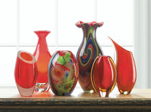 Load image into Gallery viewer, SWIRL OF COLORS ART GLASS VASE