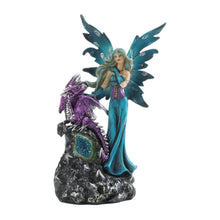 Load image into Gallery viewer, Gothic Fairy And Dragon Figurine