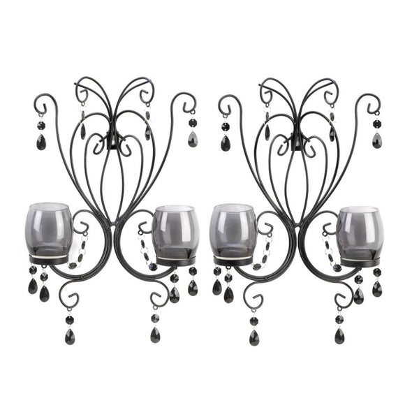 Midnight Elegance Wall Sconces