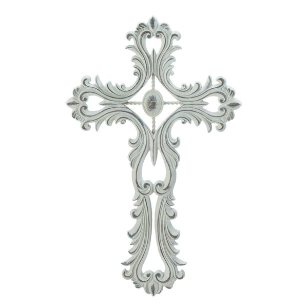 Scalloped White Cross