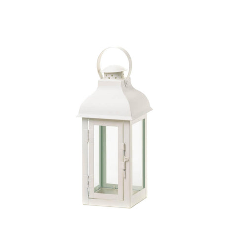 Gable Medium White Lantern