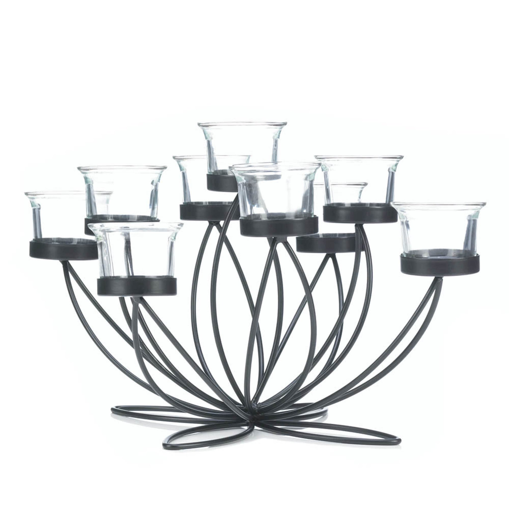 Iron Bloom Candle Centerpiece