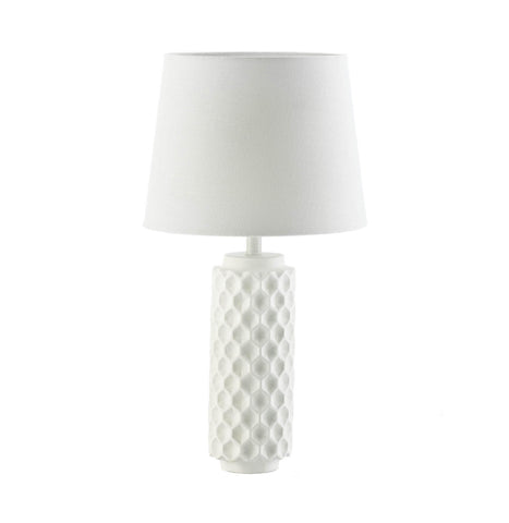 White Honeycomb Table Lamp