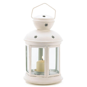White Colonial Candle Lamp