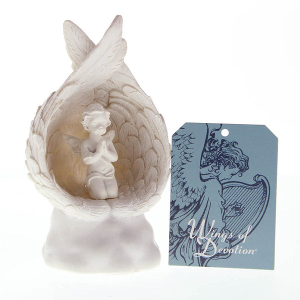 LIGHT-UP PRAYING ANGEL FIGURINE