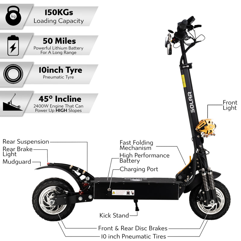 Solar FF Limited Edition Electric Scooter - Solar Scooters