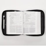 Two-fold LuxLeather Bible Cover Organizer, Black, Large