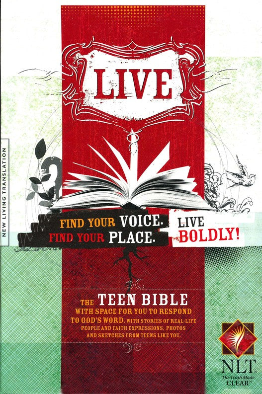 NLT Teen Bible: LIVE, Charcoal Sketch