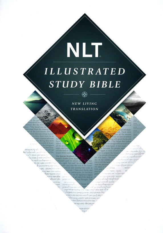 NLT Illustrated Study Bible - Deluxe Linen Hardcover - Slate Grey Edition