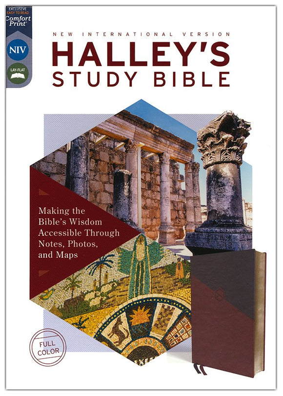 NIV Halley's Study Bible: Comfort Print, Brown Leathersoft