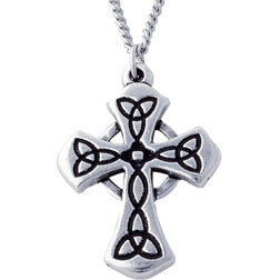 Celtic Triquetra Cross Necklace