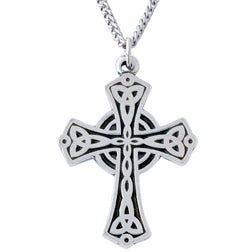 Flat Triquetra Cross Necklace