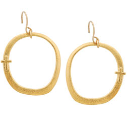 Cross Earrings - On Hoop
