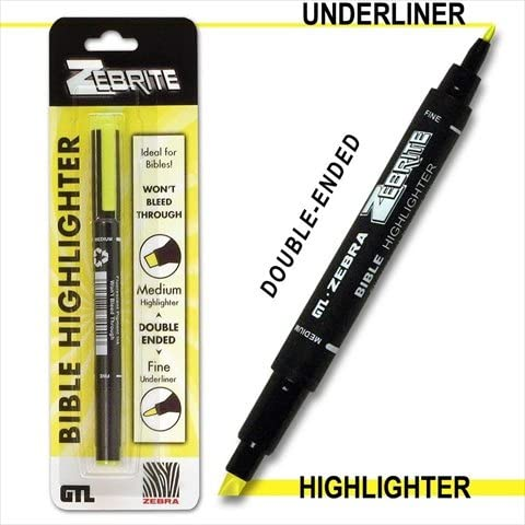 Bible Highlighter, Zebrite Yellow