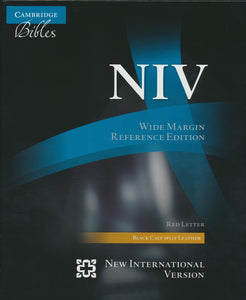 NIV Wide Margin Referenced Edition: Red Letter, Wide Margin, Black Calf Split Leather