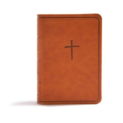 KJV On-the-Go Bible--soft leather-look, ginger