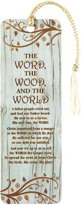 The Word The Wood The World Cardstock Tassel Bookmark