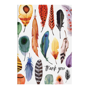 Thank You Cards: Feathers