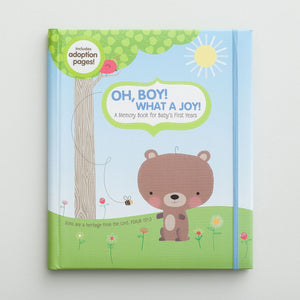 Oh, Boy! What a Joy! - Inspirational Memory Book - Blue