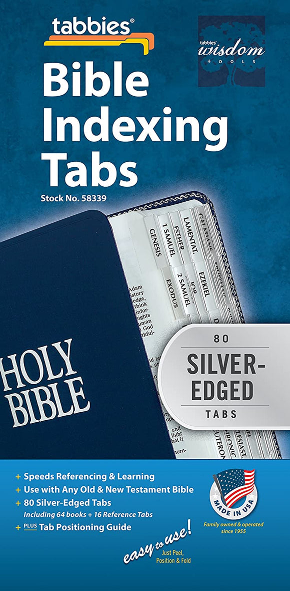 Tabbies Silver-Edged Bible Indexing Tabs