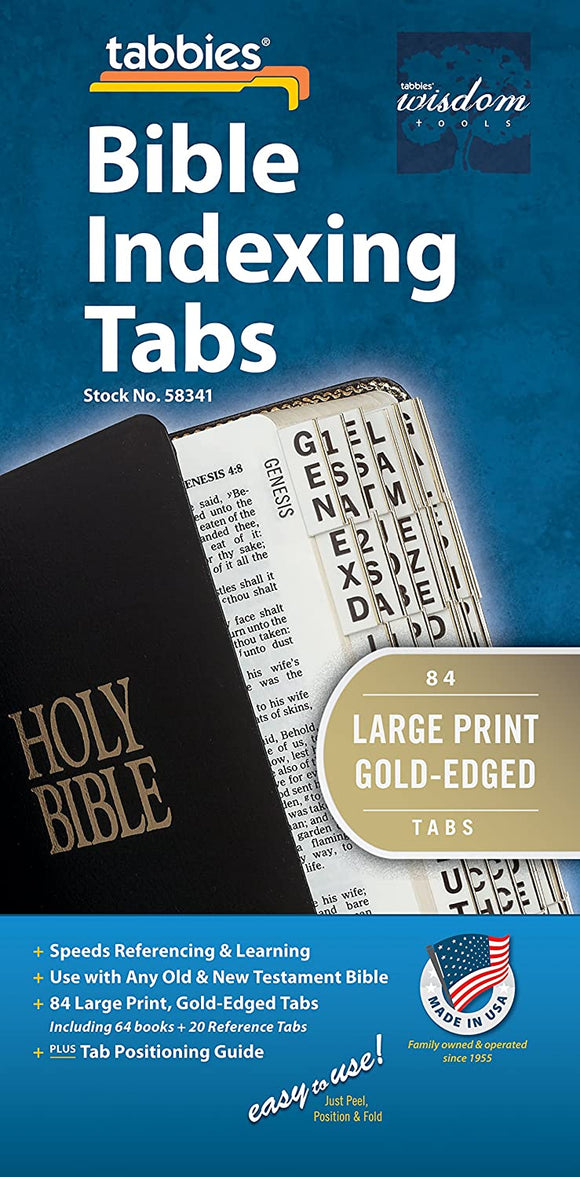 Tabbies Large Print Gold-Edged Bible Indexing Tabs