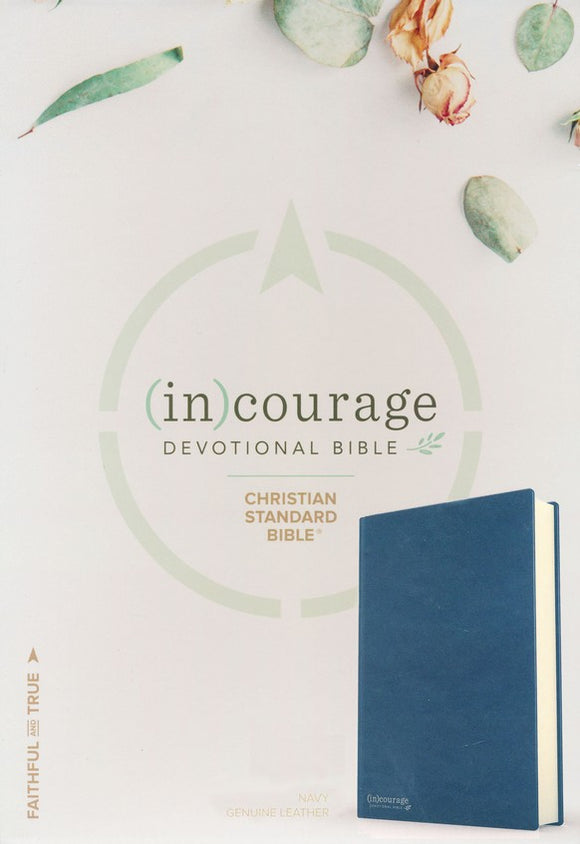 CSB (in)Courage Devotional Bible: Navy Genuine Leather