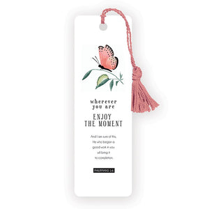 Wherever You Are Butterfly Tassel Bookmark