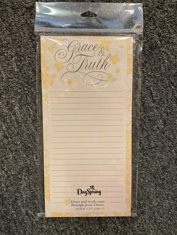 Grace and Truth Magnetic Memo Pad
