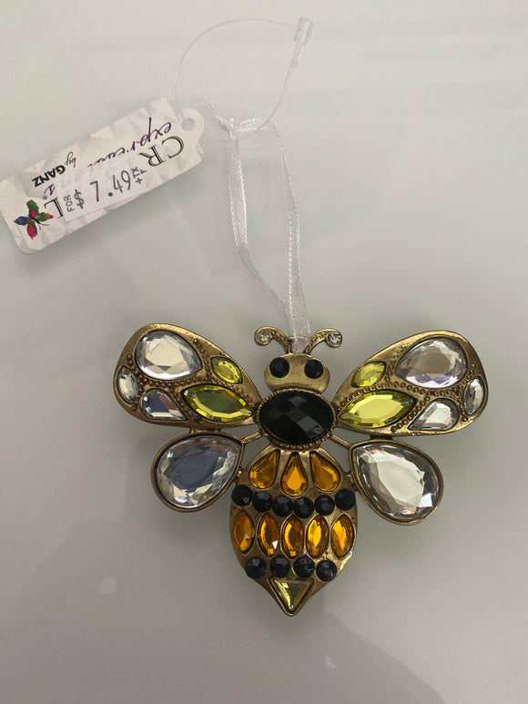 Crystal Bee Ornament
