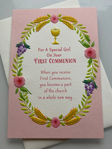 First Communion: Special Girl