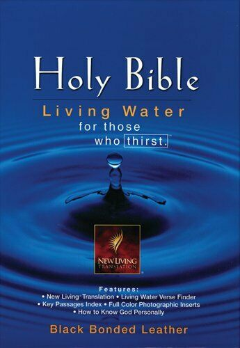 NLT Living Water Bible: Burgundy Bonded Leather